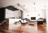 Modern apartment interior 3d — Stock Photo