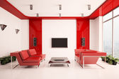 Living room interior 3d — Stock Photo
