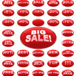 Red sale icons - Photo