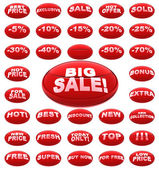 Red sale icons — Stock Photo