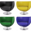 Set of armchairs 3d - Photo