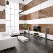 Modern living room interior 3d render — Stockfoto