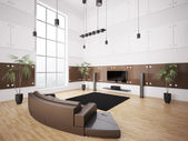 Modern living room interior 3d — Stock Photo