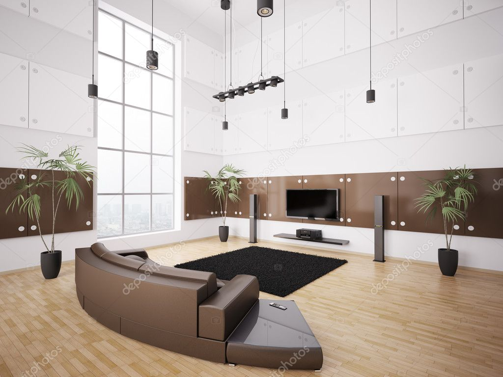 Modern living room interior 3d — stock photo © scovad #3913766