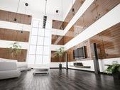 Modern living room interior 3d render — Foto de Stock