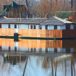 Stock Photo: Small building and it reflection on the