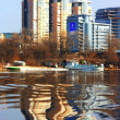 Kiev city panoramwith river Dniper — Stock Photo #2732003