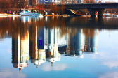 Kiev city panorama with the river Dniper — Stock Photo