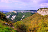 Nature of Crimea with amazing mountains — Stock Photo