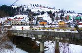 Snow landscape in Carpathian mountains — Stock Photo