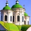 Amazing cupola of church in Kiev - Stock Photo