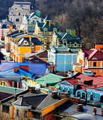 Beautiful colored little buildings — Stock Photo