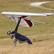 Hang glider flying in the Italian Apennines — Stock Photo