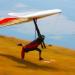 Foto Stock: Hang glider flying in mountains