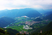 Hang glider flying in the Alps — Stock fotografie