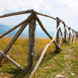 Beautiful wooden fence in Apennines — Zdjęcie stockowe #3750640