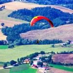 Paraglider in the alps, Slovenia — Stock Photo #3751116
