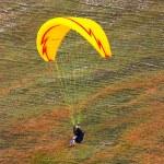 Paraglider in the alps, Slovenia — Stock Photo #3751143