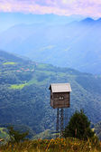 Small wood house in the Alps — Stock Photo