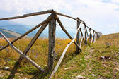 Beautiful wooden fence in the Apennines — Photo