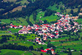 Small town in the mountains in Slovenia — Stock Photo