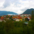 Small town in the Alps mountains of Slovenia — Stock Photo