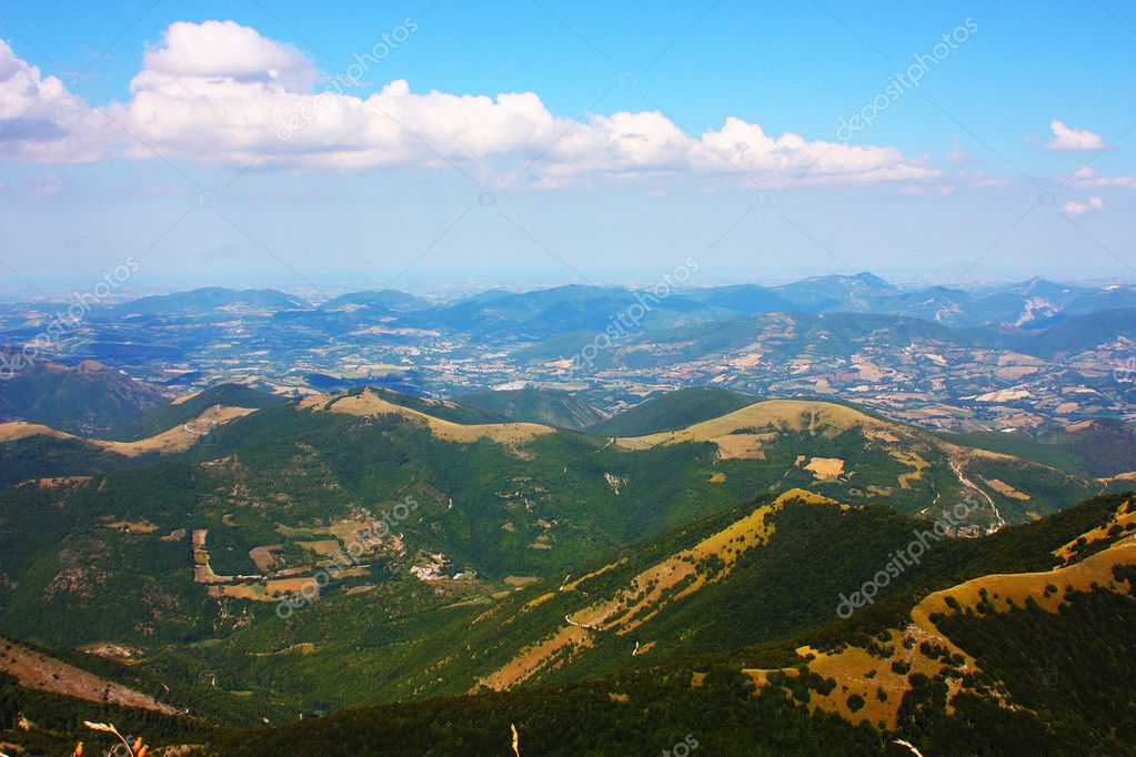 Apennines beauty taken in Italy on the Monte Cucco mountain  Stock Photo #3784230
