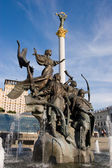 Statue of an angel in Kiev — Stock Photo