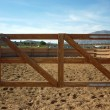 Horse wooden fence — Stock Photo