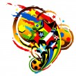 Stock Vector: Football world cup icon