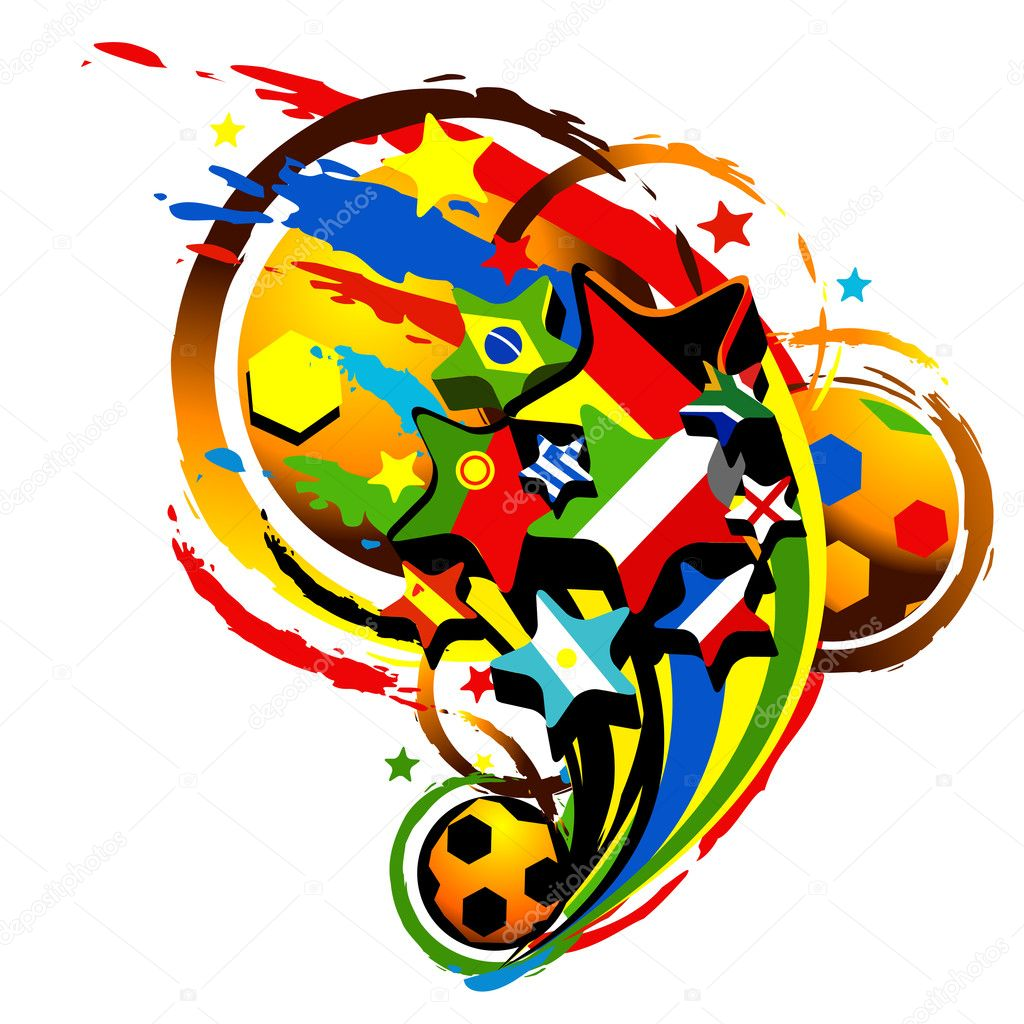 Isolated abstract vector World Cup 2014 Vector