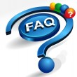 Stock Vector: Faq