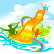 Water fun - Stock Vector