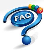 Preguntas más frecuentes — Vector de stock