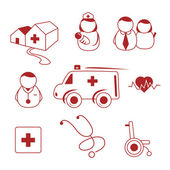 Hospital icons — Vettoriale Stock