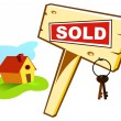 Sold house — Stock Vector
