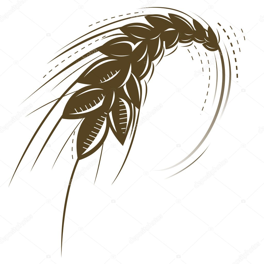 Wheat vector icon  Stockvectorbeeld #3917330