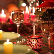 Christmas place setting — Stockfoto #3823275