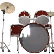 Drum Kit isolated on a white — Stock Photo
