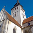 Niguliste church in old Tallinn — Stok fotoğraf