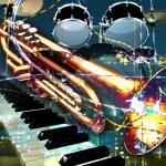 Jazz rock background — Stock Photo #2909102
