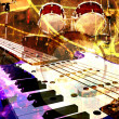 Jazz rock background - Foto de Stock