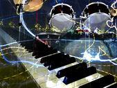 Jazz rock background — Stock Photo