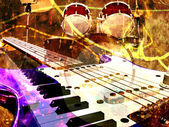 Jazz rock background — Stock Photo