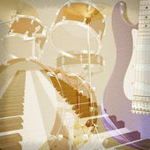 Abstract grunge music background — Stock Photo