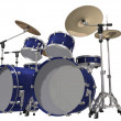Drum Kit isolated on a white — Foto Stock
