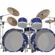 Drum Kit Isolated On A White Background — Stock Photo
