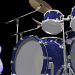 Stock Photo: Drum kit trumet and guitar
