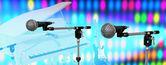 Microfones no palco — Foto Stock