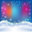 Abstract christmas blue background - Stok Vektör
